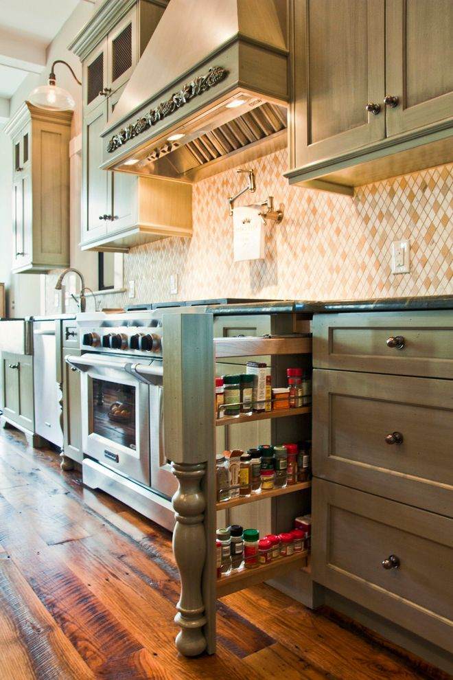Spice Rack Plano with Traditional Kitchen Also Baluster Concealed Pull Out Spice Rack Range Vent