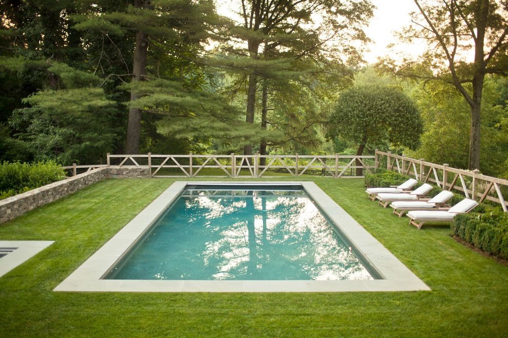 Split Rail Fence Cost   Farmhouse Pool Also Chaise Lounge Forest Grass Lawn Rectilinear Pool Split Rail Fence Stone Wall Turf Wood Fence
