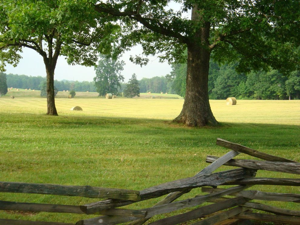 Split Rail Fence Cost with Traditional Landscape  and Country Grass Hay Bales Land Lawn Mature Trees Mountain Prairie Wood Fence Woods
