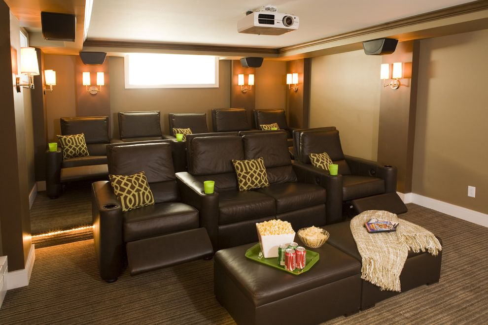 Spokane Valley Theater with Traditional Home Theater Also Traditional