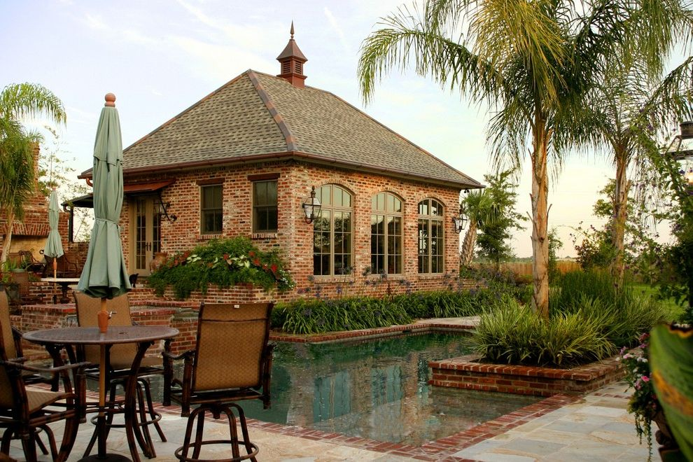 St Louis Furniture Stores   Traditional Patio Also Arched Window Brick French Door French Window Garden Furniture Patio Pool Stone