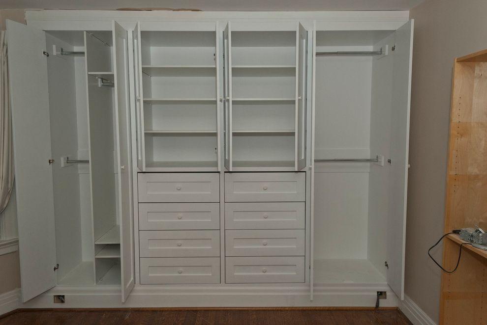 Standard Closet Depth   Contemporary Bedroom Also Built in Closet Closet Organizing Custom Closet Storage Optinization