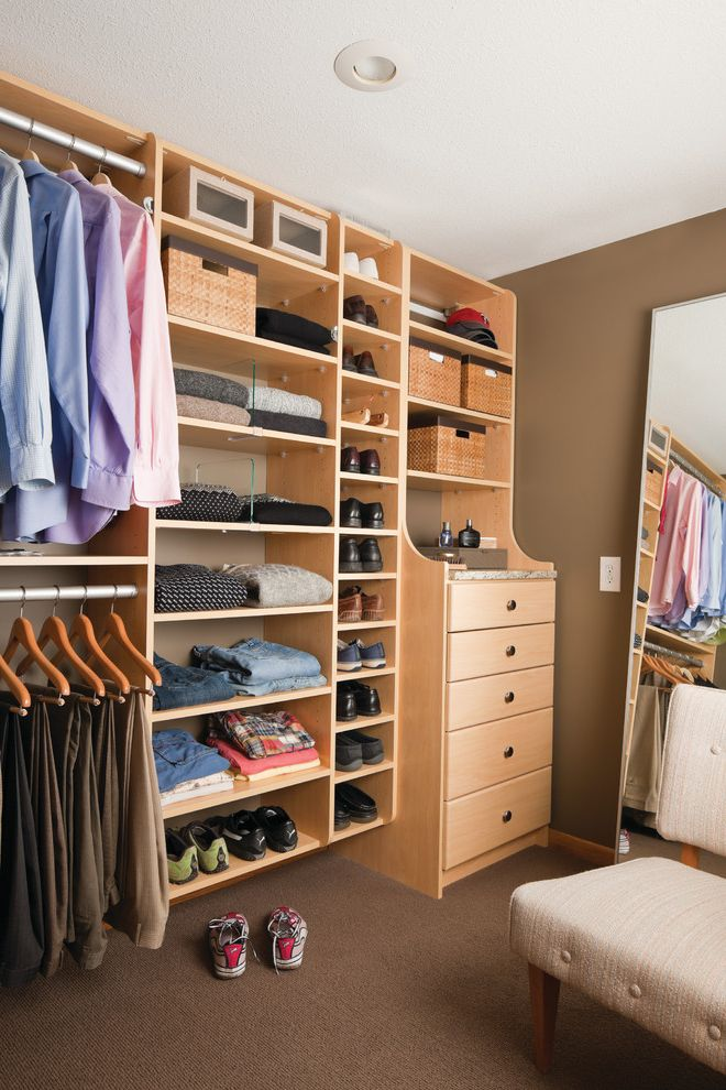 Standard Closet Depth   Contemporary Closet Also Baskets Built in Storage California Closets Chest of Drawers Full Length Mirror Hanging Racks Hutch Drawers Maple Shelf Dividers Shoe Storage Shoes Walk in Closet