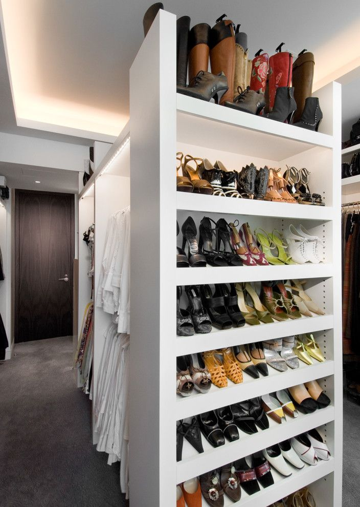 Standing Closet Rack with Contemporary Closet Also Cove Lighting Shoe Storage Walk in Closet