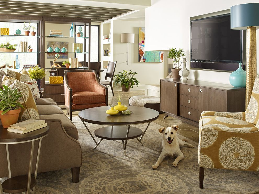 Starfurniture with Eclectic Living Room  and Cocktail Coffee Dog End Tagre Furniture Home Living Multi Purpose Rachael Rachel Ray Room Round Soho Table Tech Veneer
