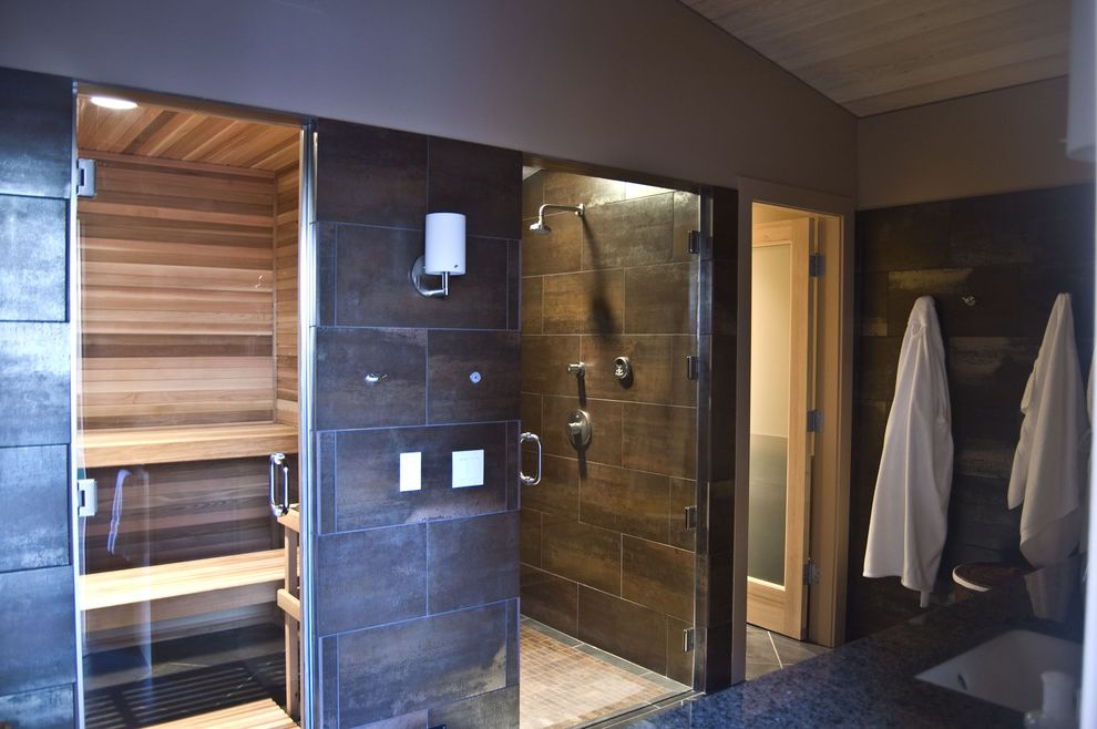 Steam Room vs Sauna with Contemporary Home Gym Also Frameless Glass ...