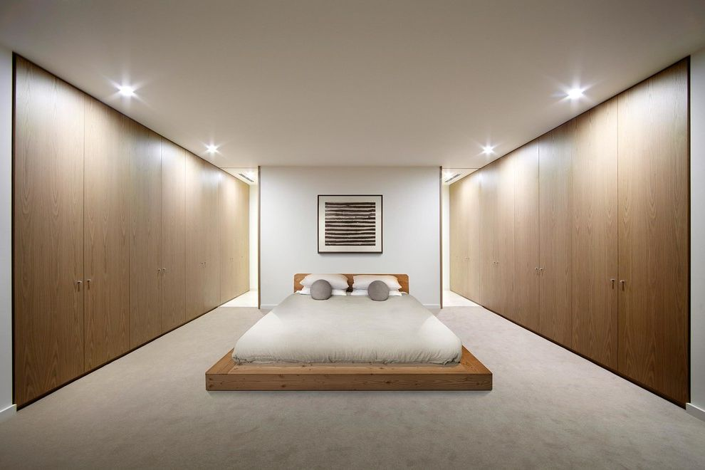 Stearns and Foster Lux Estate   Scandinavian Bedroom Also Photography Platform Bed Real Estate Recessed Lighting Urban Angles