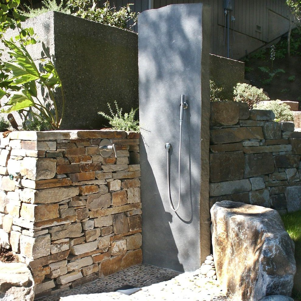 Stone Slabs for Sale with Beach Style Patio Also Aggregate Basalt Boulders Drought Tolerant Native Plants Outdoor Shower Retaining Wall Slab Stacked Stone Stone Slab Stonework Terrace