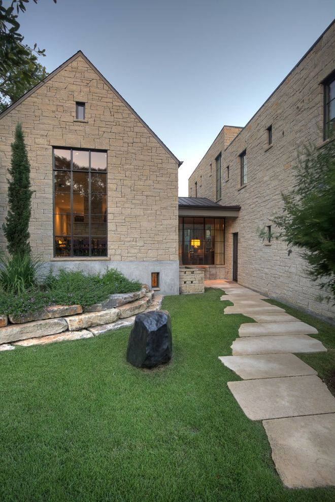 Stone Slabs for Sale with Traditional Exterior Also Cypress Entrance Garden Glass Grass Path Rock Small Windows Stacked Stone Wall Stone Tall Windows Yard