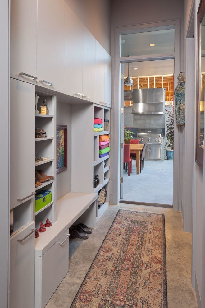 Storage Columbia Md with Contemporary Entry Also Area Rug Bench Cabinet Storage Gray High Ceilings Modern Mud Room Narrow Space Outdoor Living Pass Through Pool Bath Stained Concrete Summer Kitchen Towel Storage