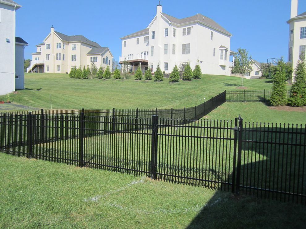 Straightforward Fence   Modern Exterior Also 3 Rail Fence Black Aluminum Black Aluminum Fence Black Wrought Iron Fence Decorative Fence Dog Containment Dog Fence Ornamental Fence Pet Safe Fence Puppy Pickets Spaced Picket Spear Point Fence
