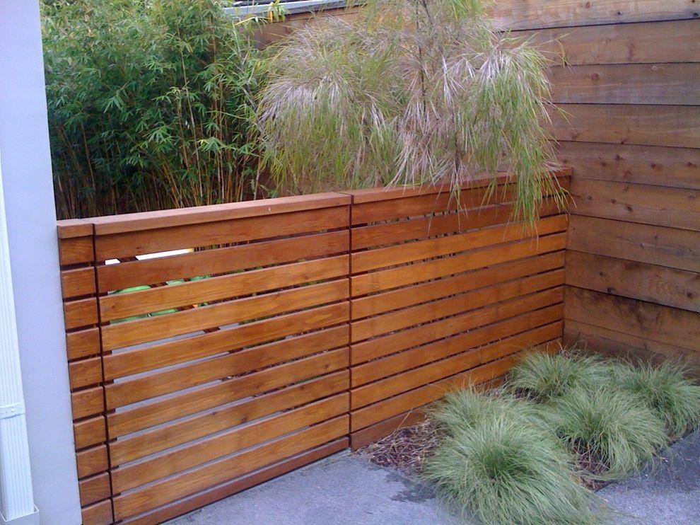 Straightforward Fence   Modern Landscape Also Modern