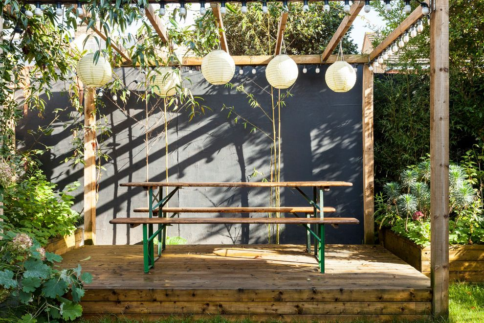 Straightforward Fence   Scandinavian Deck Also Bierbank Design Interior Modern Design Paper Lampions Photography Property Retro Upcycled