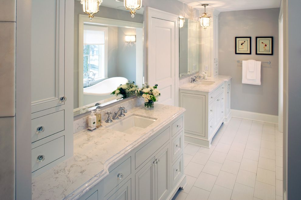 Suburban Waste Services Mn with Traditional Bathroom  and Bathroom Cambria Cambria Quartz Marble Marble Collection Quartz Torquay White Bathroom White Countertop