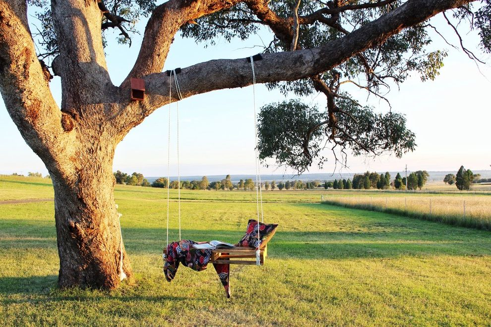 Sullivan Tree Service   Farmhouse Landscape  and Country Style Diy Fields Homemade Swing Tree Swing