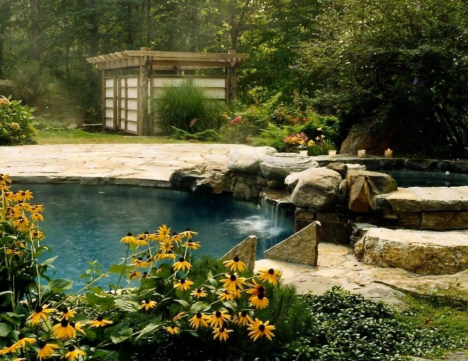 Surfside Pools   Asian Pool  and Asian Free Form Pool Pool Spa Teahouse Waterfall