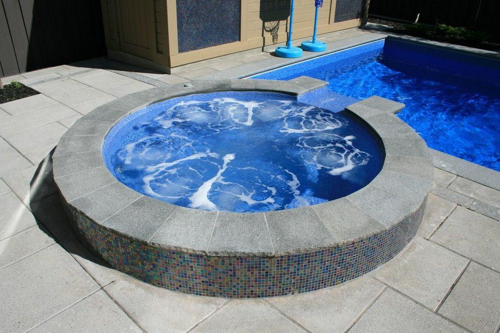 Surfside Pools    Pool  and Hot Tub Jacuzzi Stone Pavers Tile Jacuzzi Tile Siding