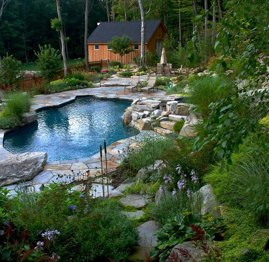Surfside Pools   Transitional Pool  and Landscape Natural Pool House Pools Spa
