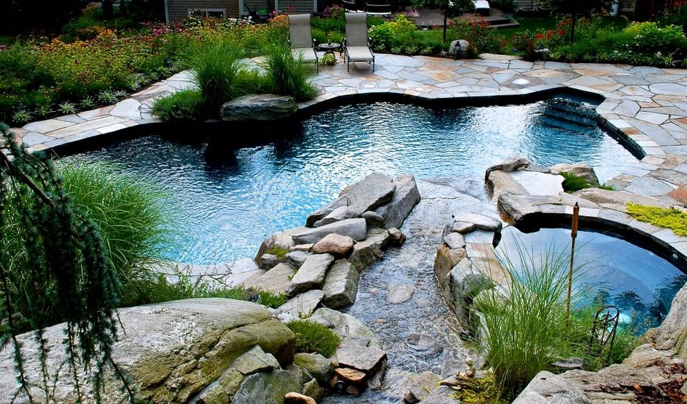 Surfside Pools with Contemporary Pool  and Free Form Pool Pool Spa Waterfall