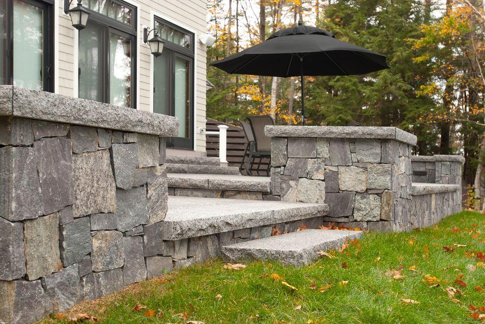 Swenson Granite Works    Exterior  and Caledonia Corinthian Granite Granite Lake Home Lake House Patio Pavers Siding Stone Veneer Steps Thermal Top