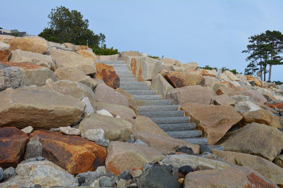 Swenson Granite Works    Landscape Also Beach House Custom Made Granite Ocean View Oceanfront Staircase