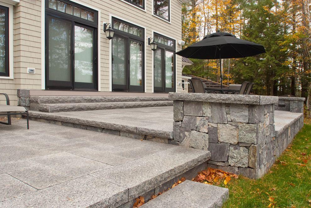 Swenson Granite Works    Patio  and Caledonia Corinthian Granite Granite Lake Home Lake House Patio Pavers Siding Stone Veneer Steps Thermal Top