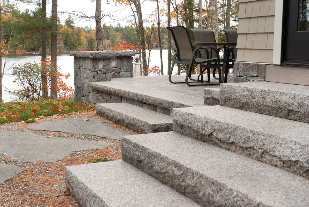Swenson Granite Works    Patio  and Flagging Granite Lake Home Lake House Lake View Stepping Stones