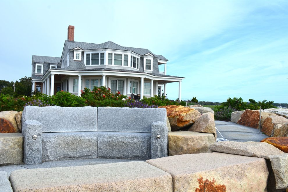 Swenson Granite Works with  Exterior Also Beach House Couches Fire Pit Granite Ocean View Oceanfront Pavers Reclaimed Granite Woodbury Gray