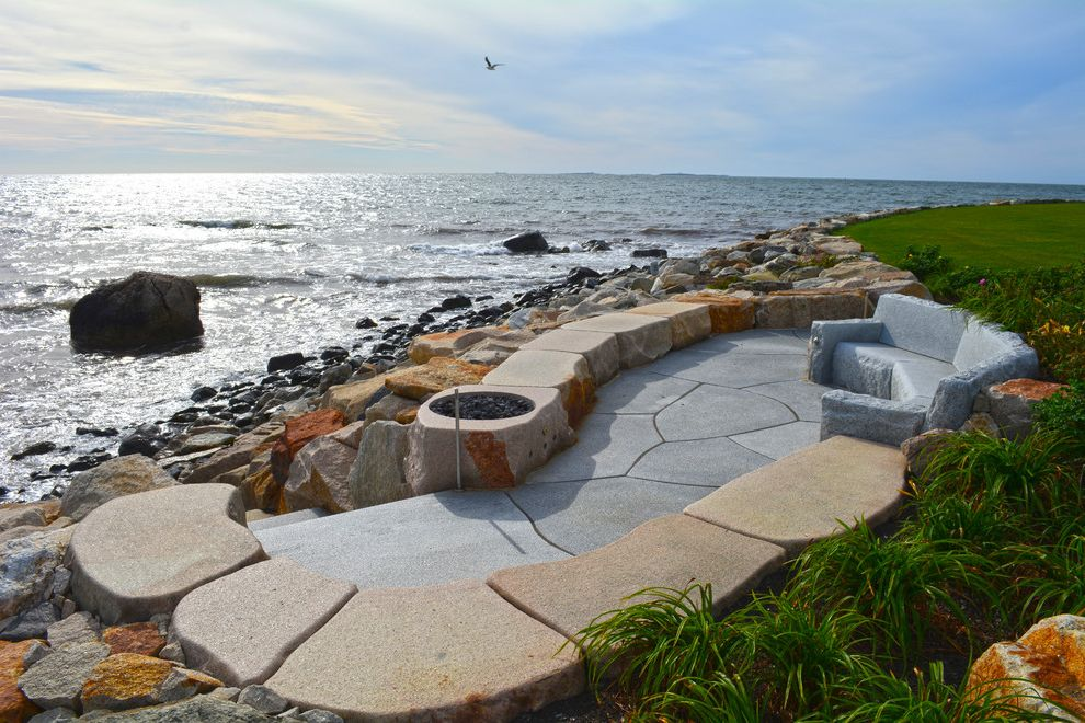 Swenson Granite Works with  Landscape Also Beach House Couches Fire Pit Granite Ocean View Oceanfront Pavers Reclaimed Granite Woodbury Gray