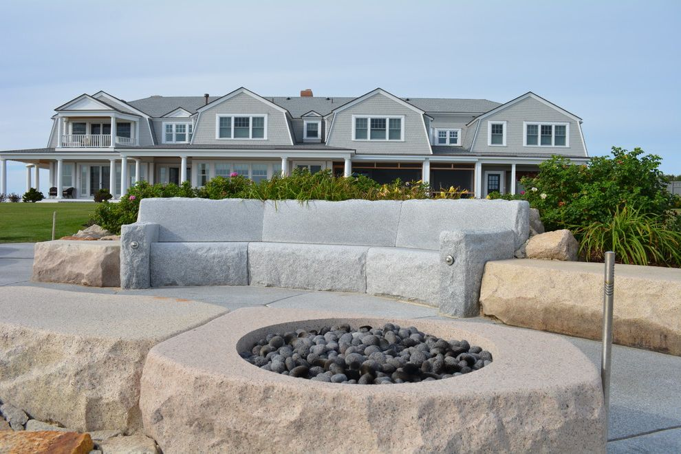 Swenson Granite Works with  Landscape Also Beach House Couches Fire Pit Granite Oceanfront Pavers Reclaimed Granite Woodbury Gray