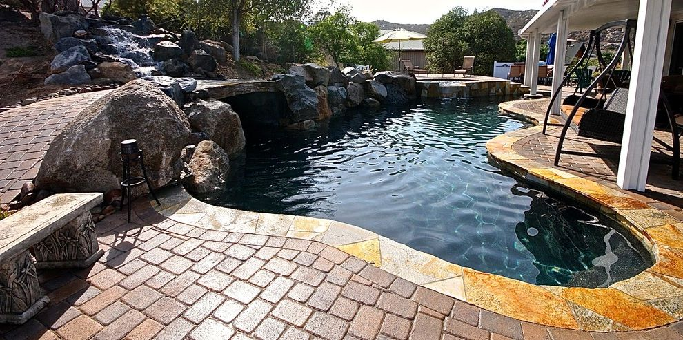 Swim with Otters San Diego   Traditional Pool Also Backyard Entertaining Backyard Escapes Beautiful Pools Infinity Pools Jacuzzi Landscape Pool Builders Pool Contractors Pool Fountains Pool Landscape Pools and Spas San Diego San Diego Pools