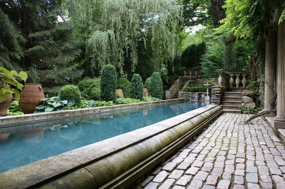 Swimming Pools Greensboro Nc with Traditional Pool Also Balusters Bird Bath Fluted Columns Limestone Pavers Plant Pots Pond Steps Water Feature Willow
