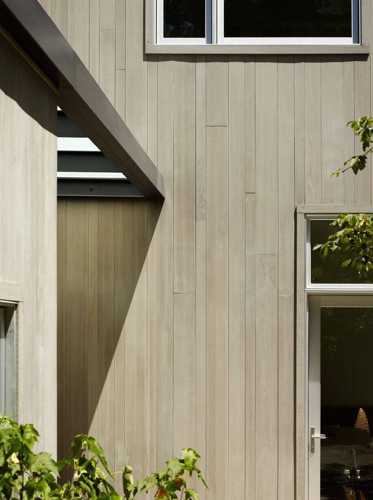 T1 11 Cedar Siding Contemporary Exterior Also Cable Railing Cedar Siding Cement Panels Concrete Covered Patio Cubist Dark Gray Forest Ipe Roof Deck Wood Walkway Woods Finefurnished Com
