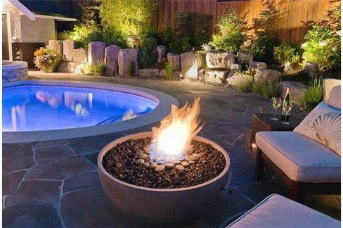 Tabletop Fire Bowl   Modern Deck  and Back Yard Fire Pit Fire Bowl Firebowl Firepit Outdoor Fire Feature Patio Fire Pit