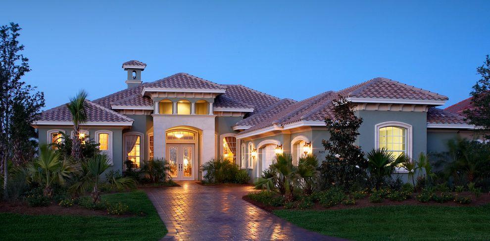 Taylor Morrison Tampa   Mediterranean Exterior Also 3 Car Garage Florida Style Architecture Raised Entry