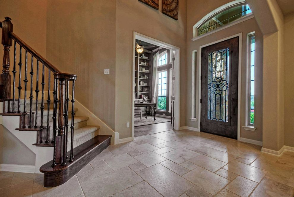 Taylor Morrison Tampa   Traditional Entry Also Austin Luxury Home Entryway Luxury Home Model Home Tile Pattern