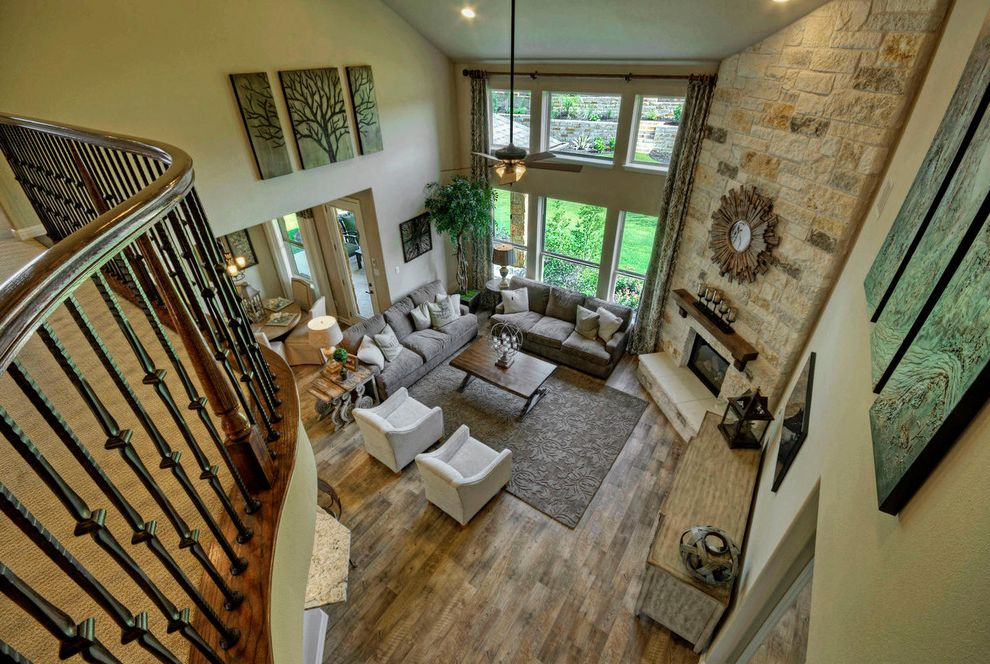 Taylor Morrison Tampa with Traditional Living Room  and Austin Luxury Home Luxury Home Model Home Stone Fireplace