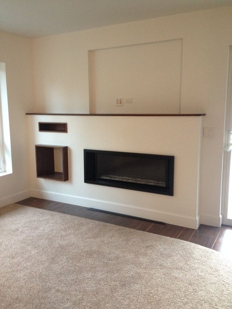 Taylored Restoration with Transitional Living Room  and Fireplace Fireplace Mantels Fireplace Surrounds Gas Fireplaces