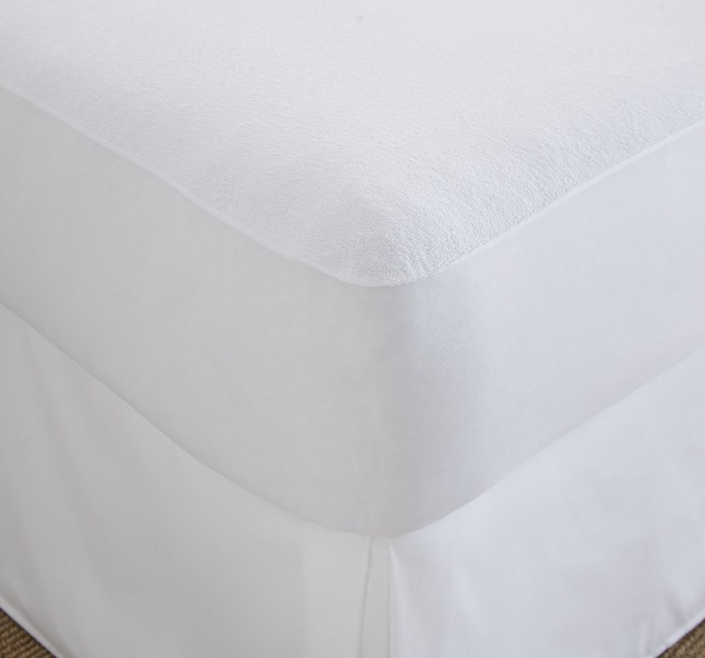 Home Collection Terry Cotton Top Waterproof Mattress Protector $style In $location