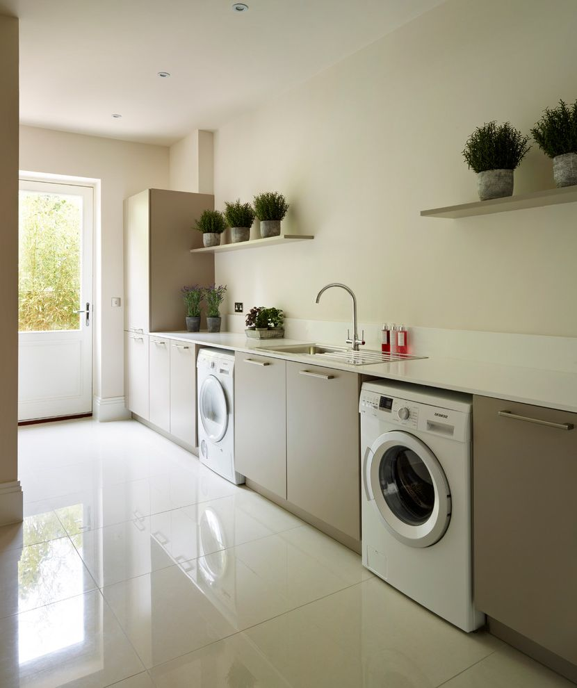 The Laundry Room Las Vegas   Contemporary Laundry Room Also Back Door Contemporary Design Herb Pots Herbs Laundry Room Laundry Room Appliances Modern Timeless Design Utility Utility Room Utility Rooms Utility Sink