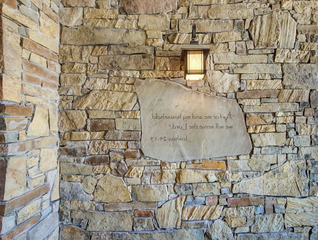 The Lord is My Shepherd Verse with Craftsman Porch Also Drystack Porch Stone Verse