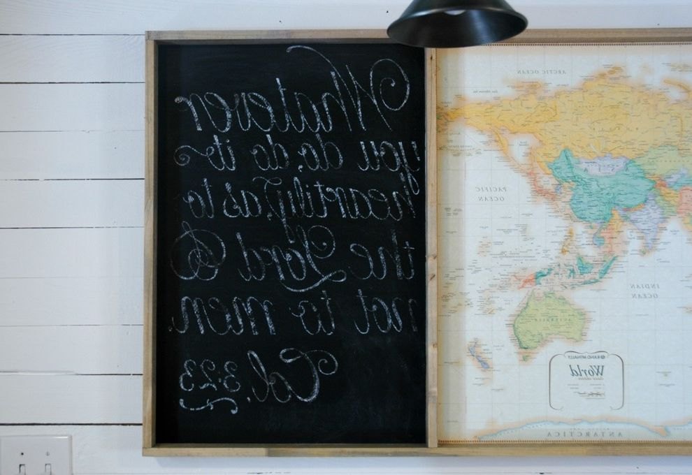 The Lord is My Shepherd Verse with Eclectic Home Office Also Chalboard Cottage Farmhouse Homeschool Industrial Map Modern Country School Space