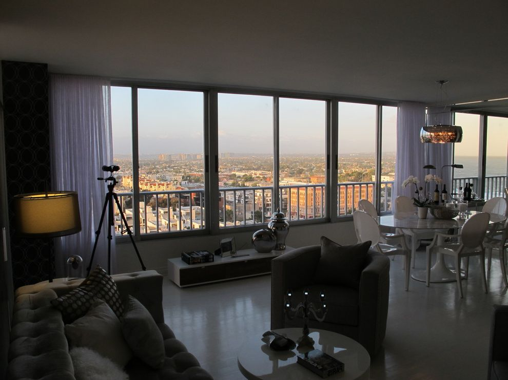 The Penthouse Santa Monica with Contemporary Living Room  and Home Stagers Home Staging Interior Designer