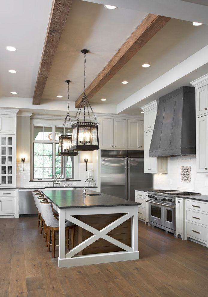 The Tile Shop Greenville Sc with Traditional Kitchen Also Apron Front Farmhouse Sink French Oak Island Seating Lake House Mystic Grey Granite Range Hood Reclaimed Beams Resort Custom Homes Satin Granite White Oak Floor Wood Paneling Zinc Hood