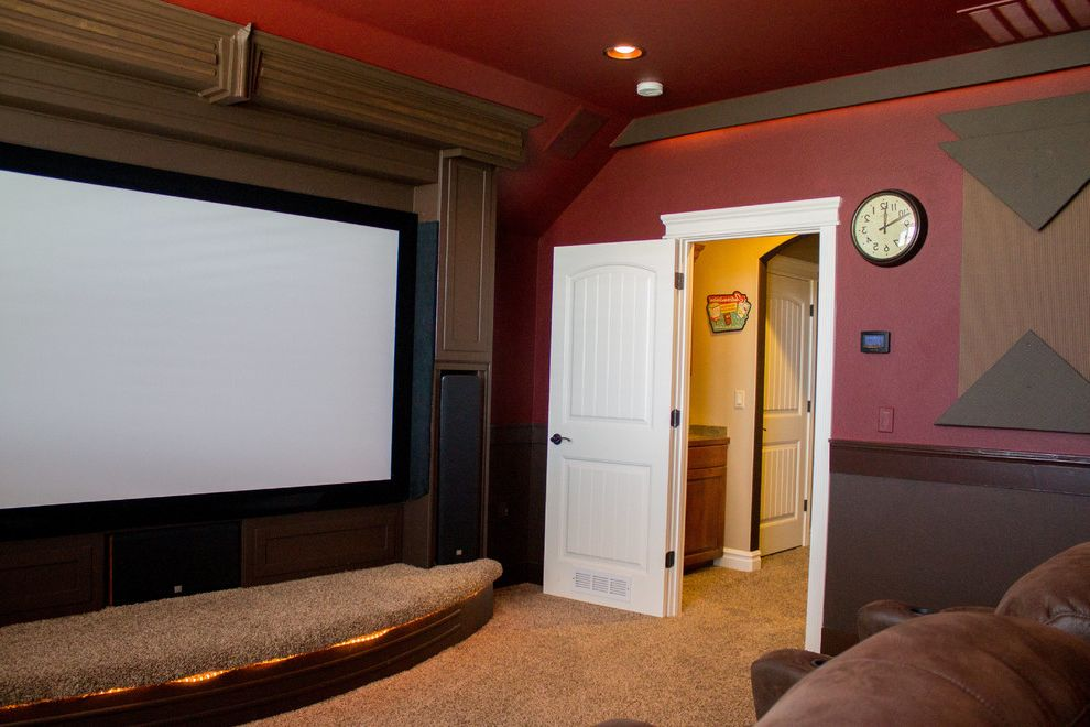 Theaters in Boise Idaho    Home Theater Also Built in Surround Sound Built in Tv Home Theater Home Theatre Seating Media Room Stage Theater Seating Themed Rooms Wide Screen Tv Walls