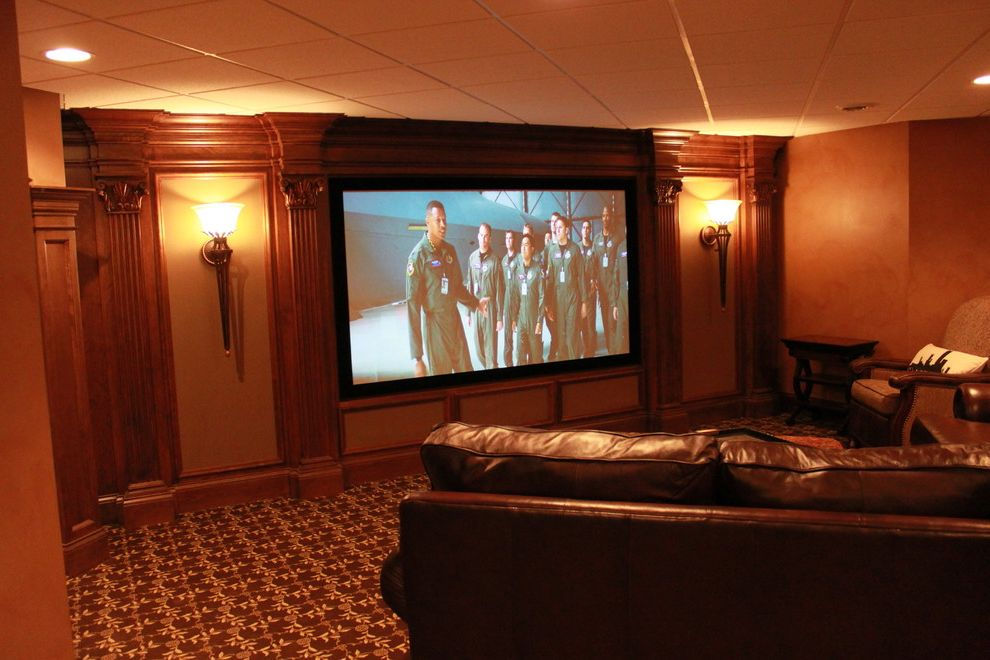 Theaters Springfield Mo with Mediterranean Basement  and Finished Basement Home Theater