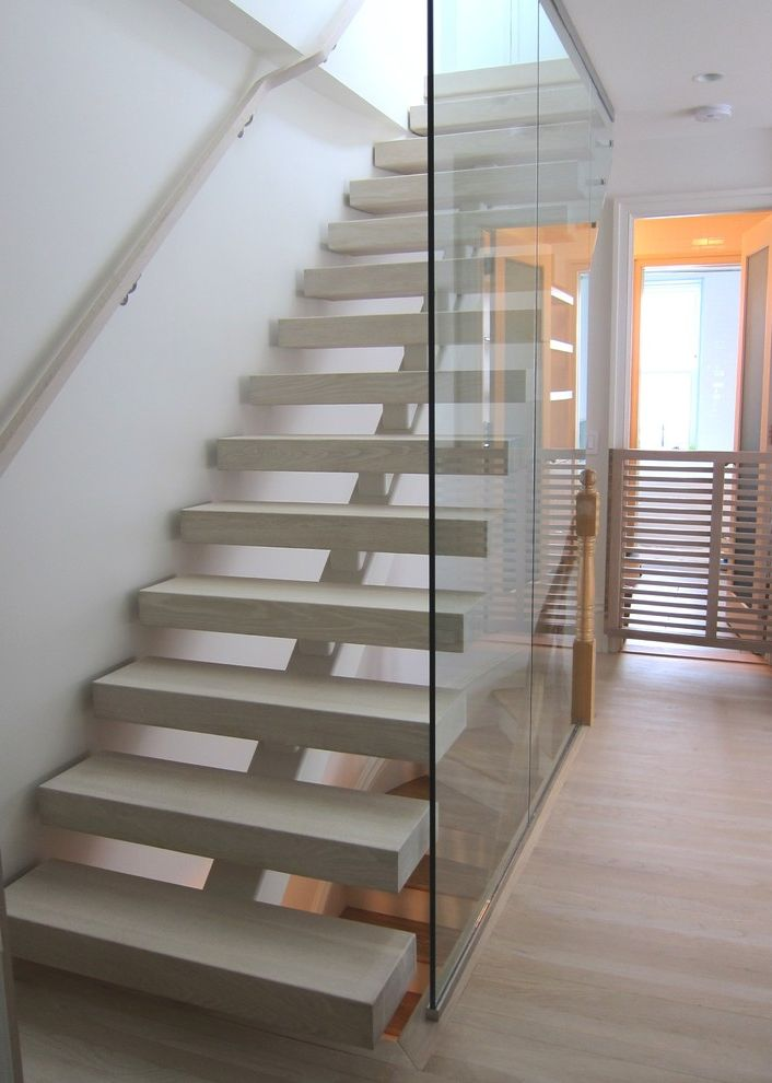 Thick Stair Treads Contemporary Family Room Also Baby Gate