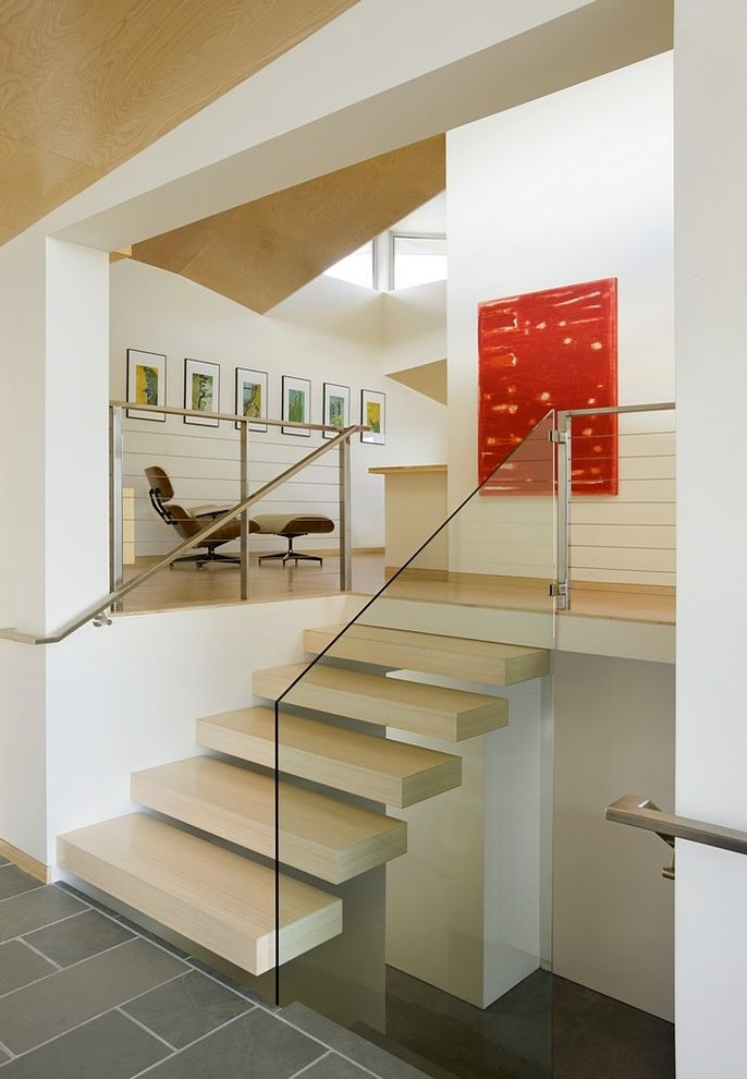 Thick Stair Treads   Modern Staircase Also Modern