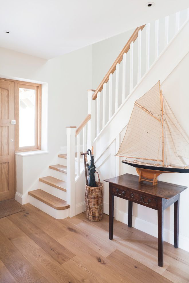 Thick Stair Treads With Entry And Boat Model Console Table Sailboat  Umbrella Stand White Stair Railing Wood Floor Wood Front Foor Wood Stair  Wood Staircase