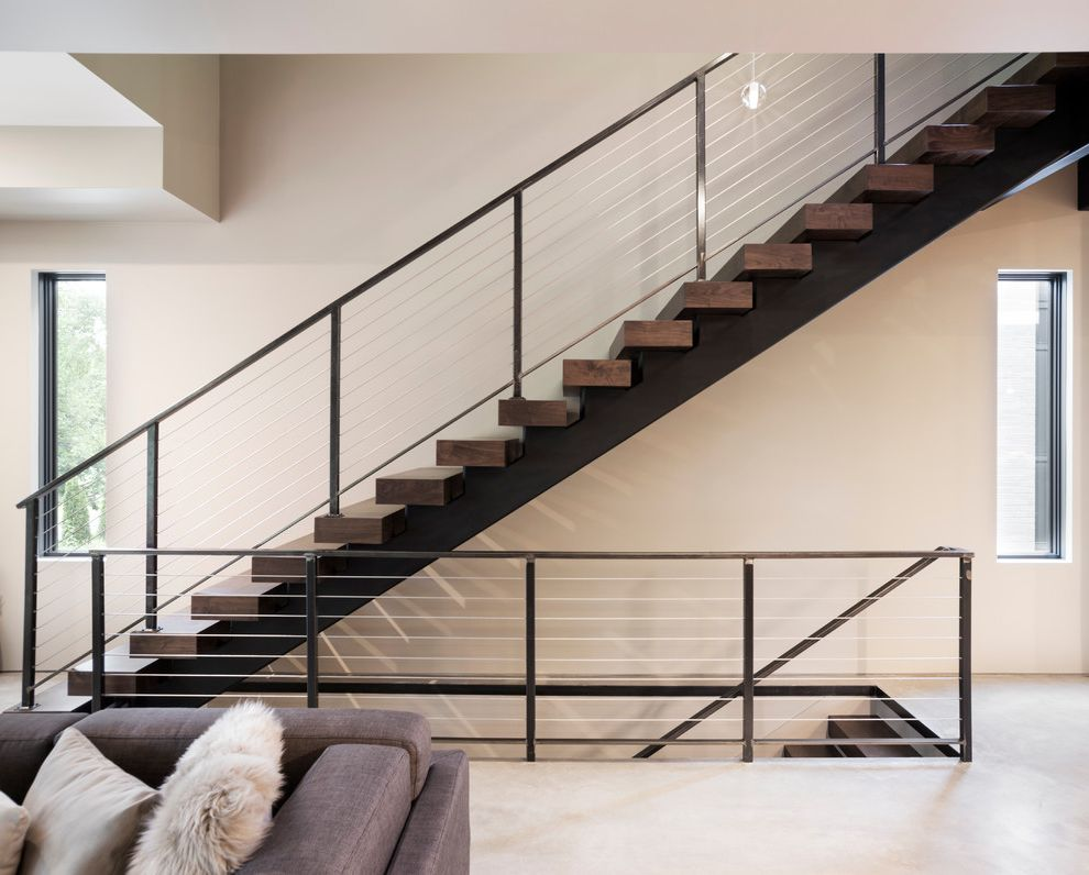 Thick Stair Treads with  Staircase Also Onlyartisan Artisan Home Tour Artisanhometour Org Batc Floating Staircase High End Home Tour Minnesota Modern Parade of Homes Staircase Twin Cities